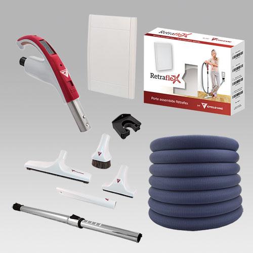 Kit d'accessoires Retraflex Cyclo Vac avec chaussette